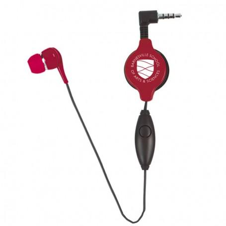 Custom Retractable Ear Bud with Microphone