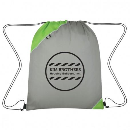Imprinted Triangle Corner Drawstring Sports Pack