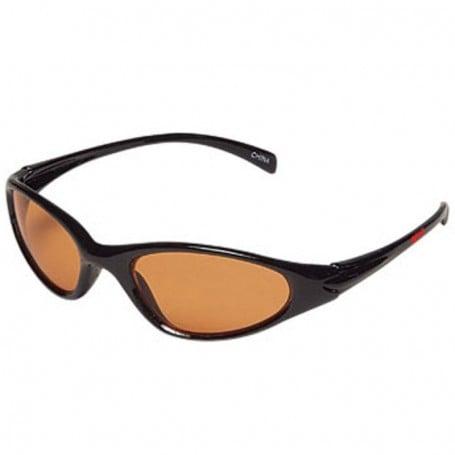 Wrap Style Sunglasses with Orange Lenses