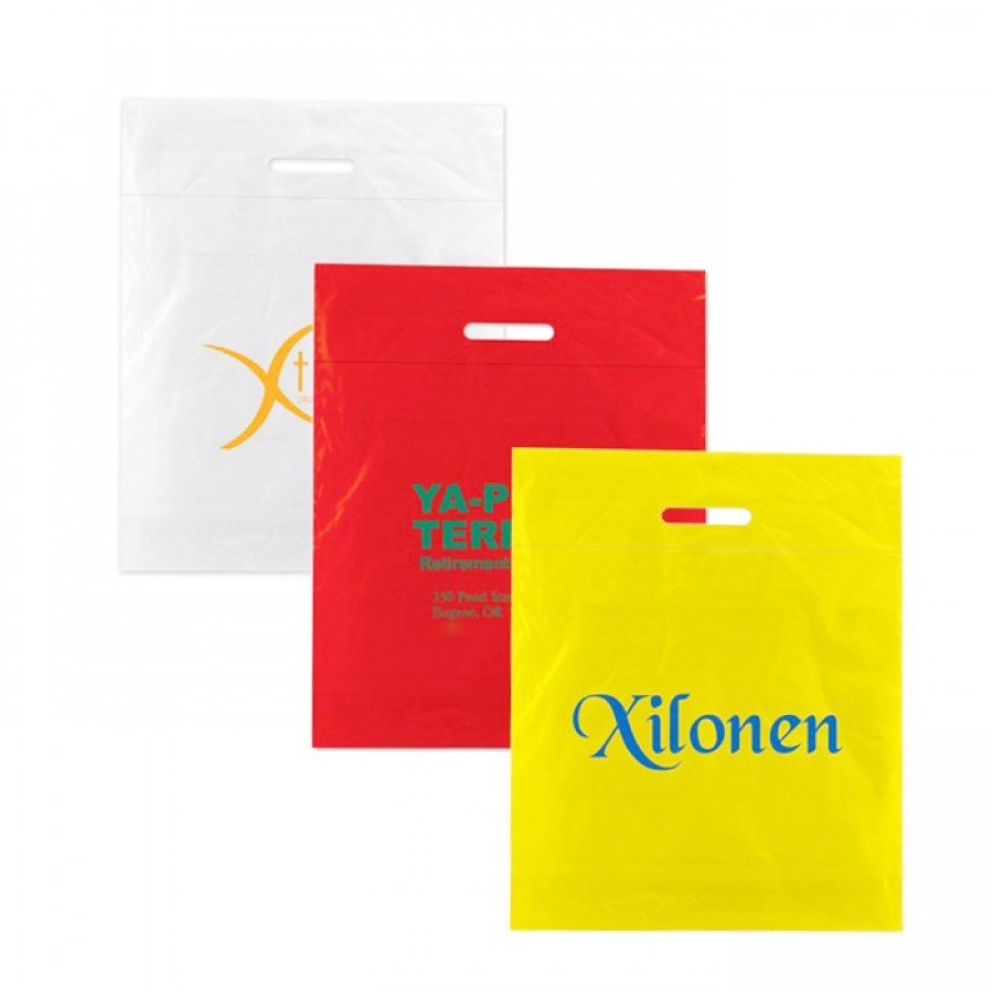 Imprintable Low Density Fold Over Die Cut Bags