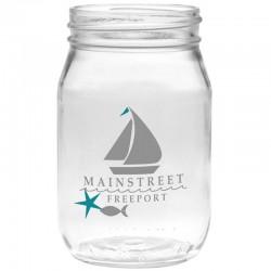 16oz Glass Mason Jar