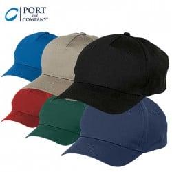 Port & Company® Five Panel Twill Cap