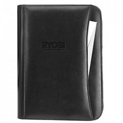 10 x 13.5 Leather Zip Padfolio