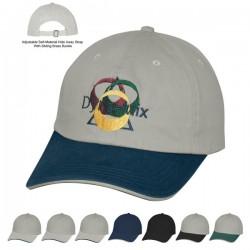 Custom Logo Cotton Chino Sandwich Cap