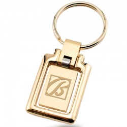 Logo Engraved Gold Swing Face Key Chain