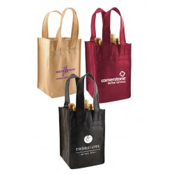 Monogrammed 4 Bottle Wine Totes