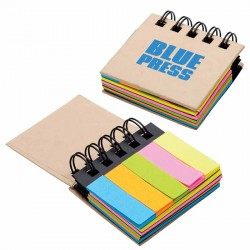 Printed Sticky Notes and Flags Notebook