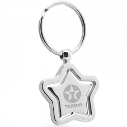 Star Center Piece Swivel Silver Keychain