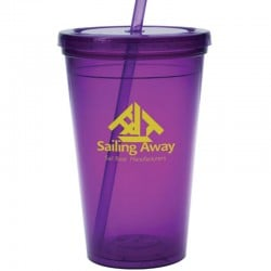 16 oz. Plastic Tumblers With Lids