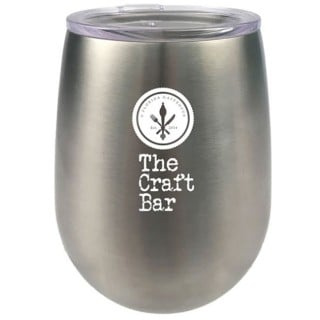 9 oz Stainless Steel Stemless Wine Glasses