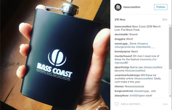 Bass Coast | 8 oz Stainless Steel Flask