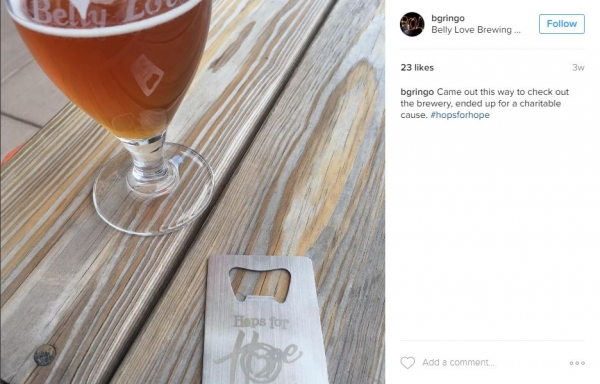 Hops for Hope | Credit Card Bottle Opener