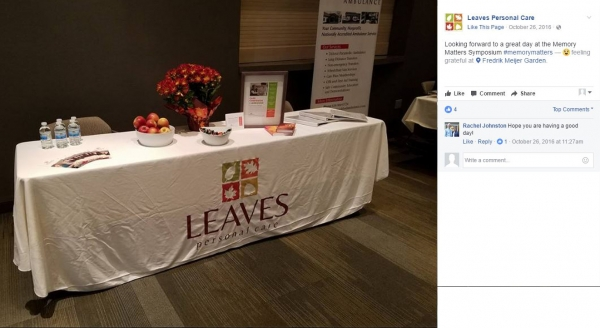 Leaves Personal Care | Full Color 6' Custom Table Cover