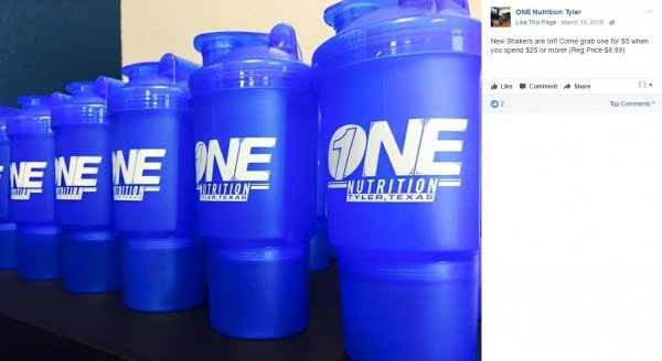 One Nutrition | Imprinted Double Shaker Cup