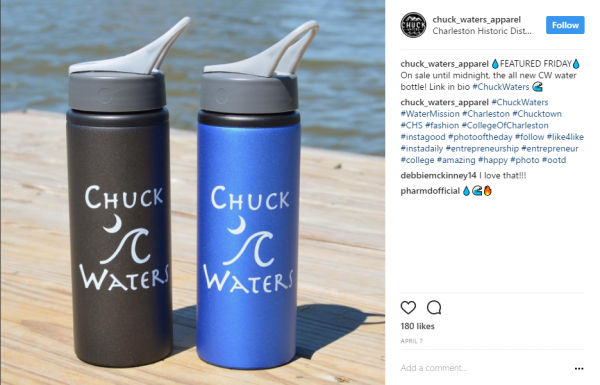 Chuck Waters | 25 oz Aluminum Bike Bottle