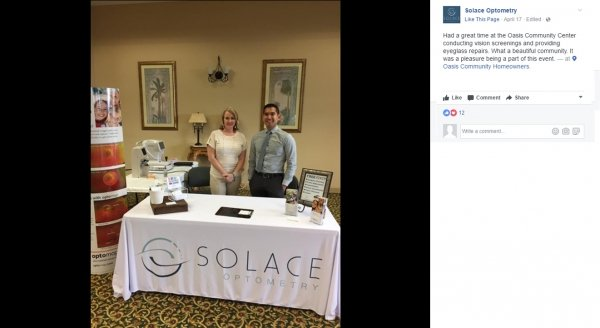 Solace Optometry | Full Color 6' Custom Table Covers